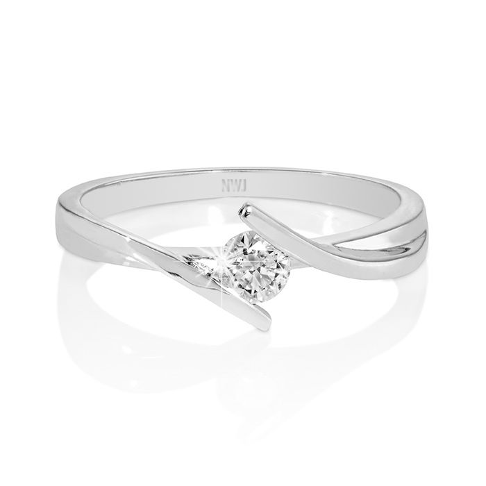 18ct White Gold Tension Set Diamond Ring with a chic, fashionable influence…