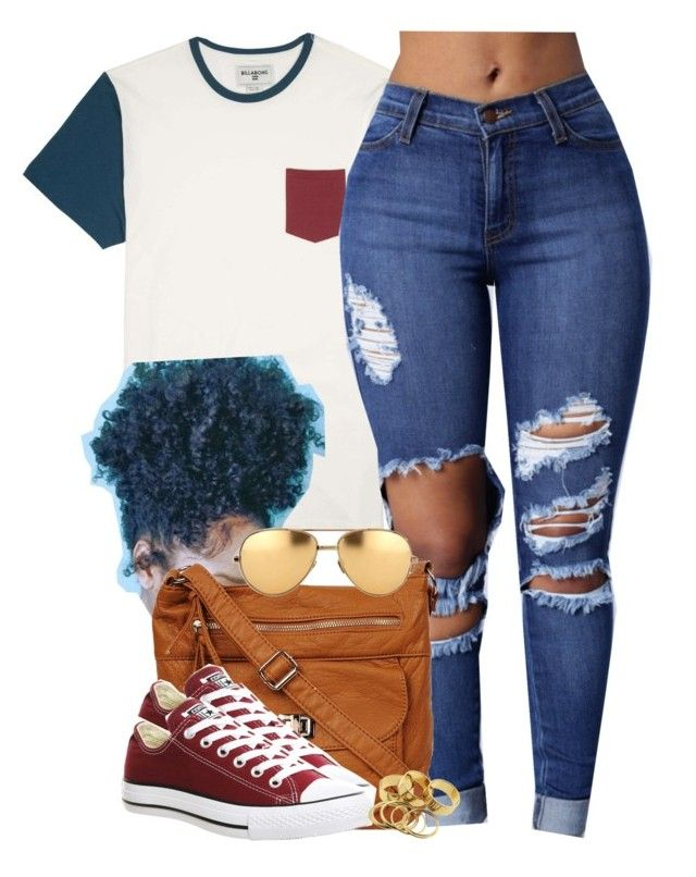 """""""Been here all day and boy got me walkin' side to side."""" by cheerstostyle ❤ liked on Polyvore featuring Billabong, Converse and Linda Farrow"""