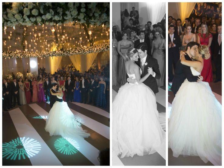 Noivos na pista de dança - Casamento Larissa Ricciardi e Paulo Henrique