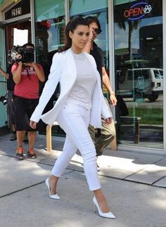 16 best all white outfits images on pinterest kim kardashian 18 striking all white outfit ideas to freshen up your fall wardrobe urmus Image collections