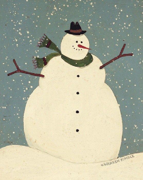 paintings of snowmen images   Warren Kimble Snowman Painting   Best Paintings For Sale