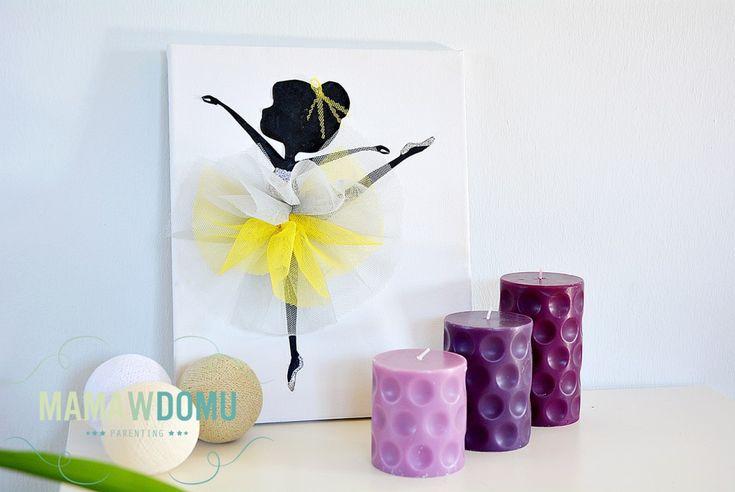 baletnica, ozdoba pokoju dziewczynki, #ballet #kidsroom #diy #craft #walldecor