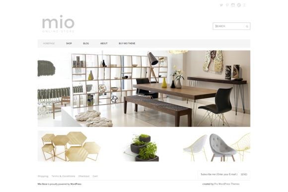 Mio Shop eCommerce WordPress Theme by Theme Bullet on Creative Market
