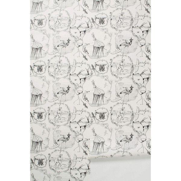 Florence Balducci Kalahari Vignettes Wallpaper ($88) ❤ liked on Polyvore featuring home, home decor, wallpaper, black, plain black wallpaper, black white wallpaper, black wallpaper, giraffe wallpaper and dots wallpaper