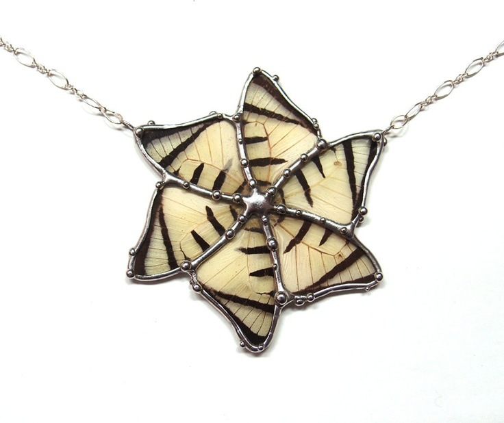 Butterfly Wing Statement Necklace -