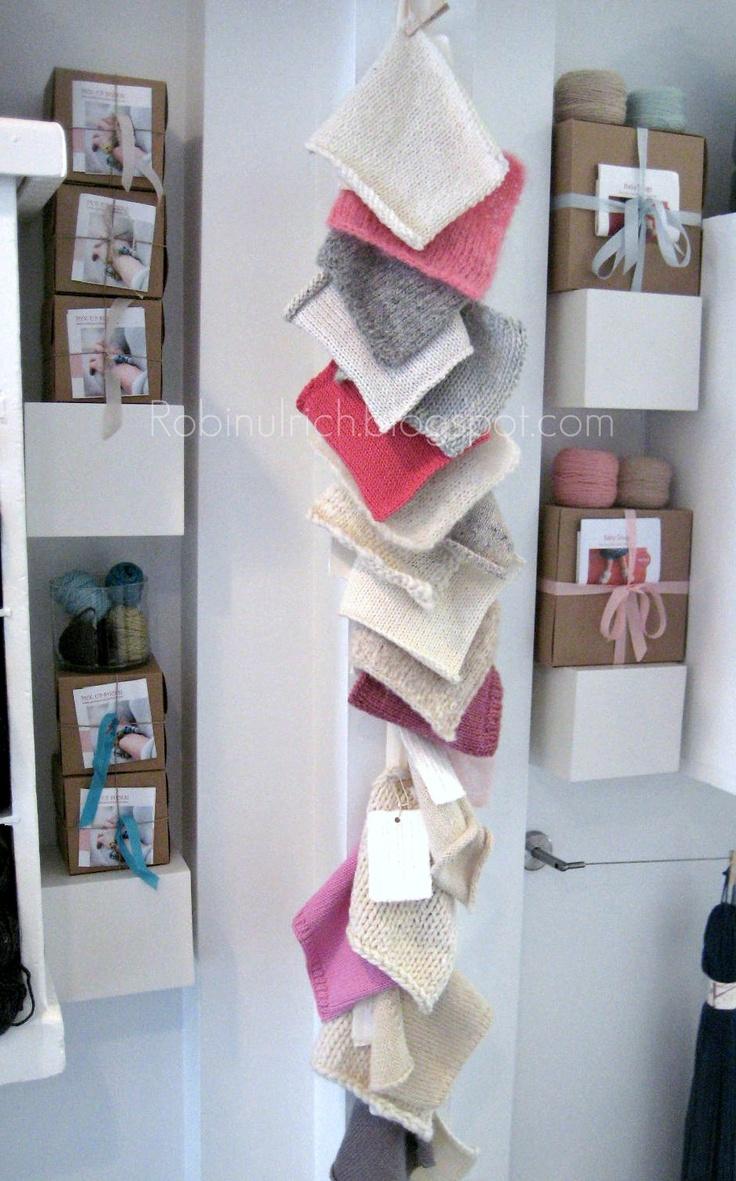 knit swatches from wisp, a favorite yarn shop - robin ulrich studio