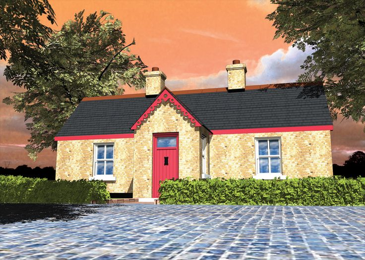 Render of a cottage located in Co. Wexford Iireland.