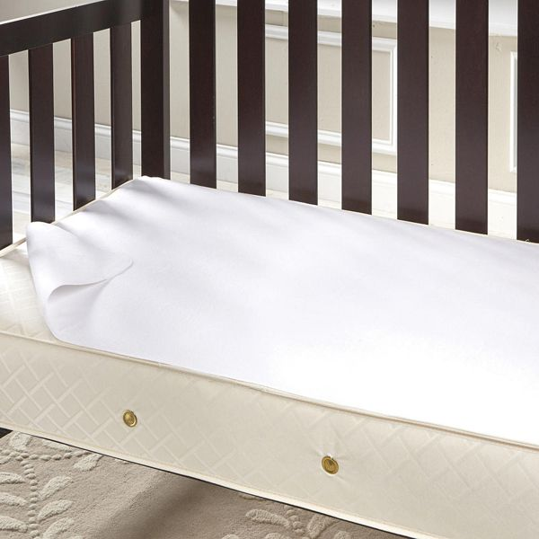 Change Crib Sheets in a Snap  I'm petite and changing crib sheets is a pain. So now, I layer- first, a waterproof mattress pad liner and then a sheet. Then I repeat and keep layering until my supply of sheets and pads runs out. (This is also great for middle-of-the night messes. Just pull off the soiled layer and you'll be back to sleep in no time!) bab