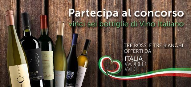Prossima settimana 24/09/13 iniziamo un altro concorso dove puoi vincere sei bottiglie di vino italiano! http://www.italiaworldwide.com/ #vino #concorso #vinci