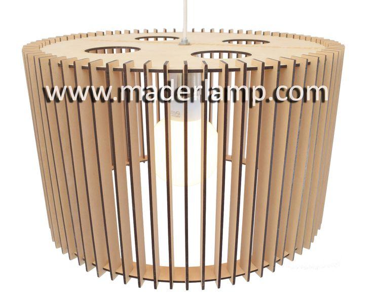 Lámpara colgante de madera MDF 40 cm de diámetro