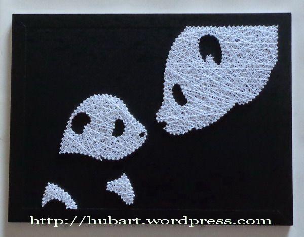 panda family string art
