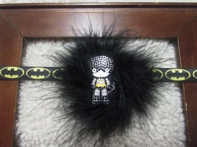 Baby girl headband~Batman headband~Superhero Headband~Photo prop~Newborn Headband~Batman baby~Yellow Headbands~Infant Headband~Headband by PaisleyInPearls on Etsy
