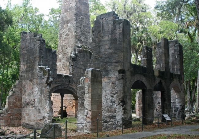FL, Bulow Plantation Ruins - Today, a scenic walking trail leads visitors to the sugar mill ruins, listed on the National Register of Historic Sites.
