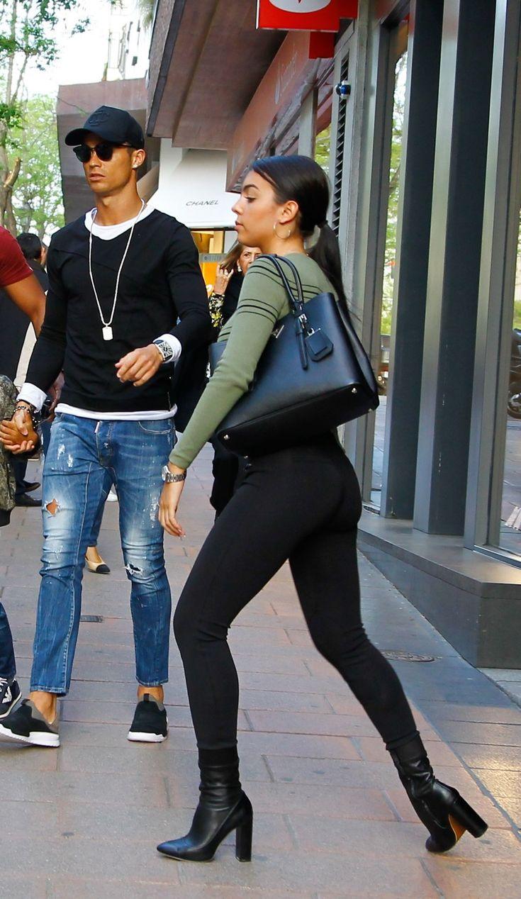 GEORGINA RODRIGUEZ and Cristiano Ronaldo Out Shopping in Madrid 04/20/2017