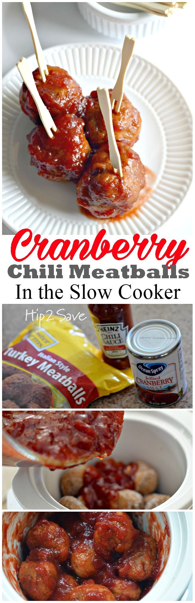 If you're looking for an easy and mouth watering appetizer to make this holiday season, try these yummy Cranberry Chili Meatballs that you make in the slow cooker! They are the perfect combo of sweet, sour, & smoky and are sure to be a big hit at your next gathering. Discover this wonderful recipe at Hip2Save.com.