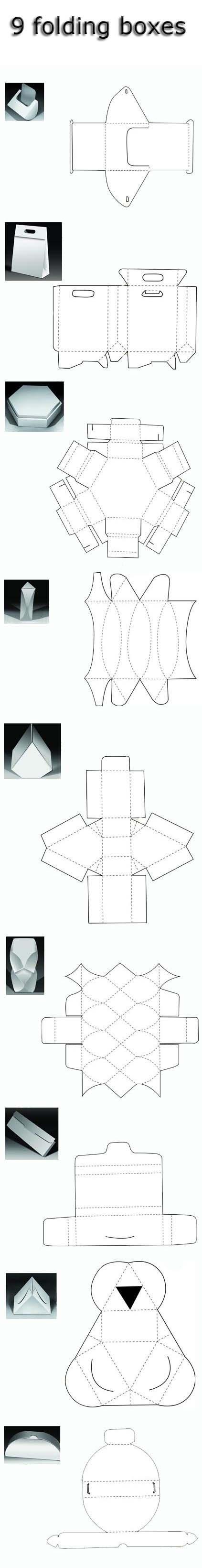 9 folding boxes