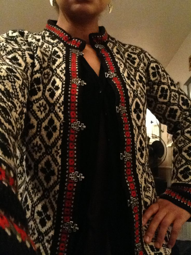 My new handmade Lusekofte (traditional Norwegian wool sweater) Classic design that is sure to last many years.