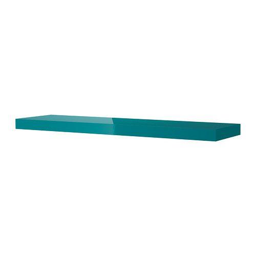 LACK Wall shelf - high-gloss/turquoise  - IKEA