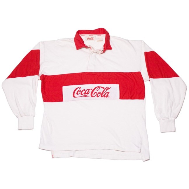 80s coca cola rugby shirt i had this products i love. Black Bedroom Furniture Sets. Home Design Ideas