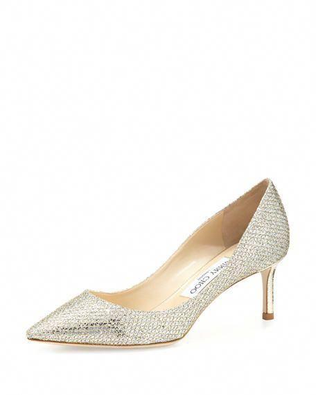 225e003d6940 JIMMY CHOO Romy Glitter Pointed-Toe 60Mm Pump, Champagne. #jimmychoo #shoes  # #JimmyChooHeels