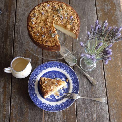 Lemon and Almond Basbousa Cake with a Rosewater Sugar Syrup