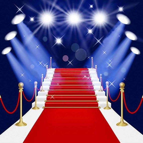 Gorgeous Red Carpet Stairs 10ft X 10ft Backdrop Computer Etsy In 2020 Red Carpet Backdrop Red Carpet Background Background For Photography