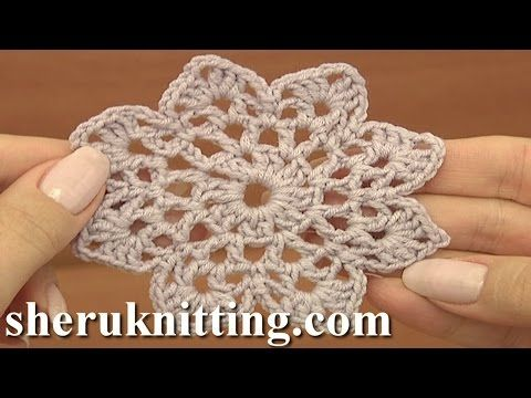 Easy to Crochet Round Motif Tutorial 12 Part 1 of 2 - YouTube