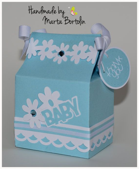 Baby Shower Favor Box Baby Boy Favor Box by tracesofcrafts on Etsy