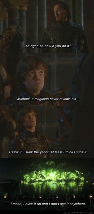 Arrested Westeros = Game of Thrones + Arrested Development I just literally lol'd
