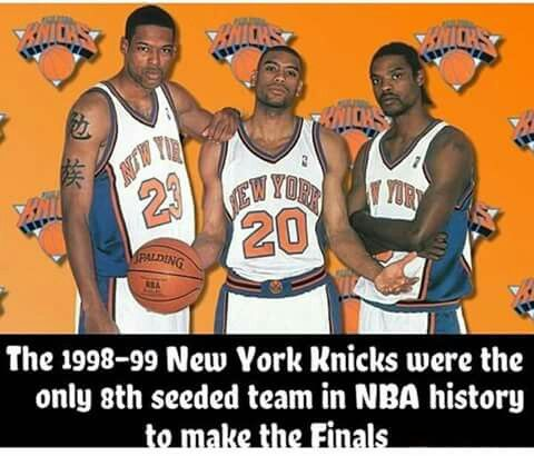 1998-1999 New York Knicks. They should have kept Sprewell and got rid of Alan Houston. Spree had heart and attacked the  rim and was a great defender. HOUSTON wasn't aggressive and not good defender but was a nice guy.