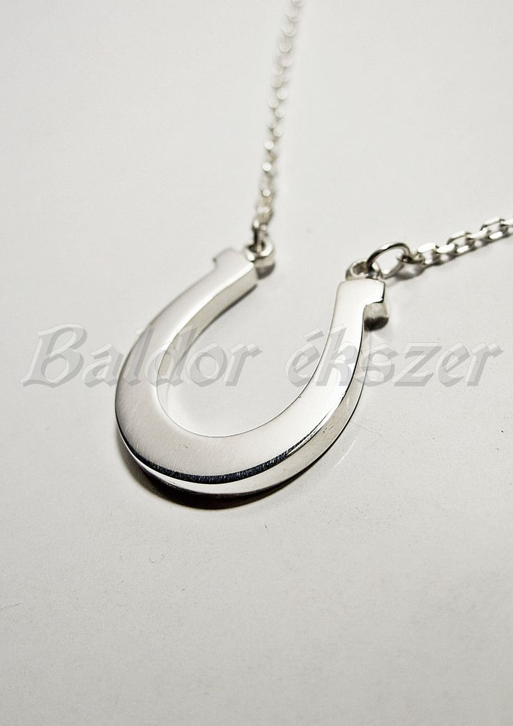 Silver necklace with horseshoe by BaldorJewelry on Etsy