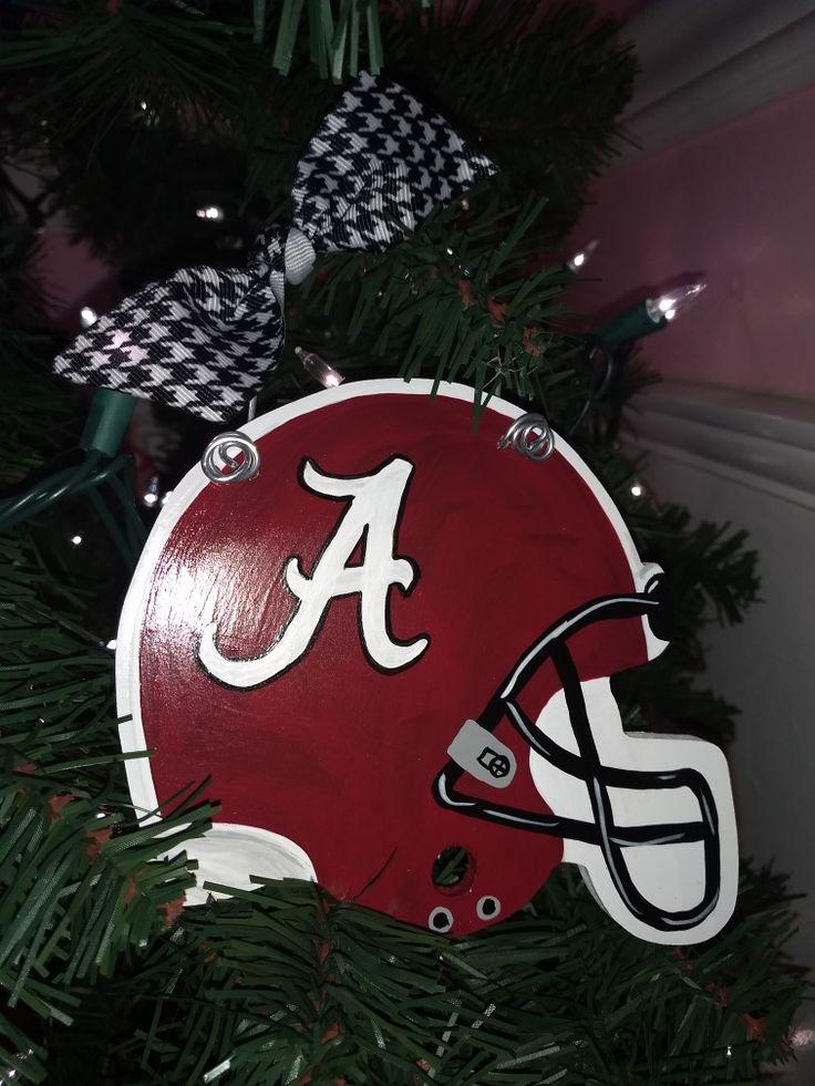 Alabama football Hemet  Christmas Ornament by My Latest Project by Liz