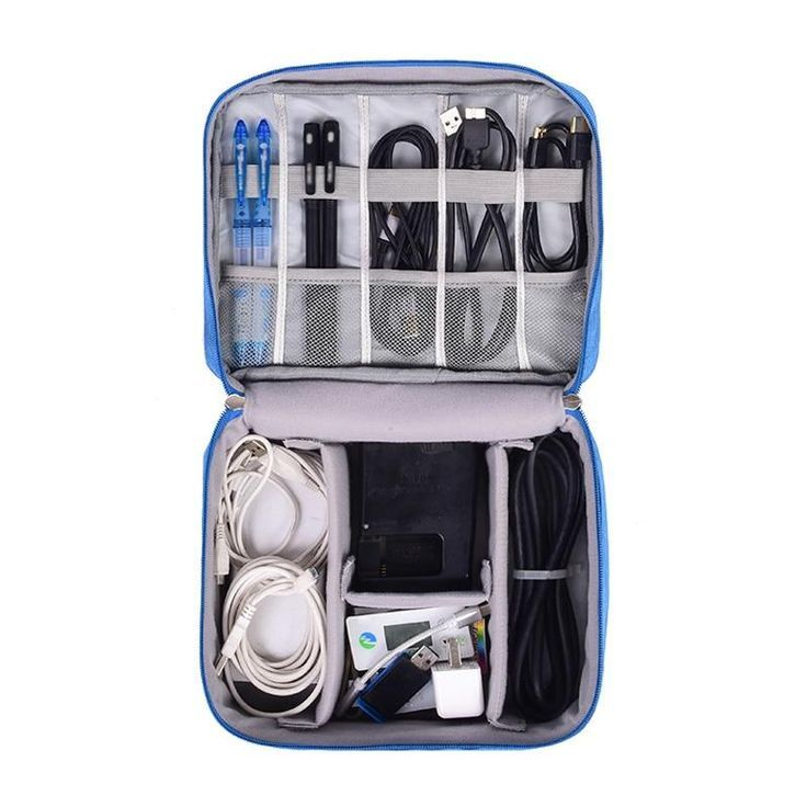 Bolsa de cable digital Hombres Gadgets de viaje portátiles Bolsa Cable de alime…