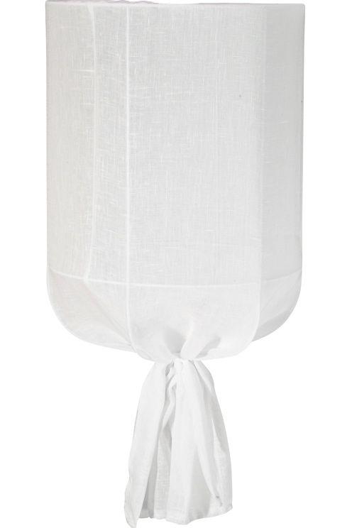 Taklampa i tyg. Rund, diameter 30 cm, höjd 60 cm. Inklusive vit sladd 1,2 m. Komplett med kronkontakt. Takkopp i vit plast. E27 Max 60W. <br><br>