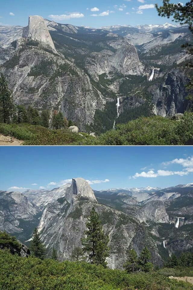 From Washburn Point top and Glacier Point