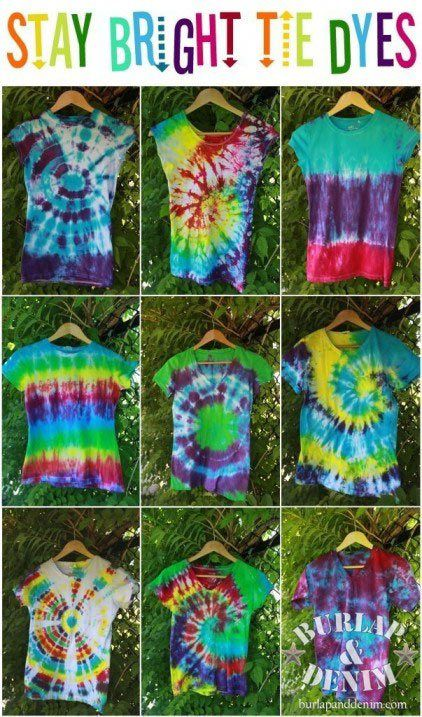 Stay Bright Tie Dyes http://www.jexshop.com/