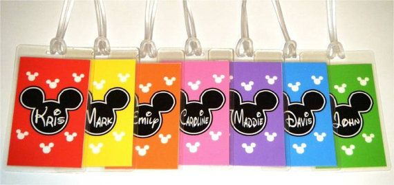 Cute Disney Luggage Tags that you can DIY #Tangled2012 #Disney #OrlandoFL