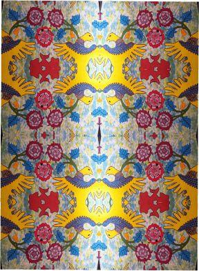 Wallpaper design fabric design by Raoul Martin handpainted...