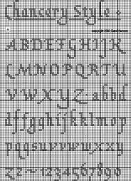cross stitch alphabet patterns - Google Search
