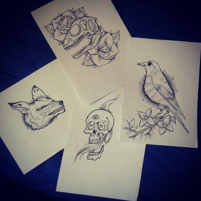 Unos diseños para tatuar :) ...antes de tatuar jaja