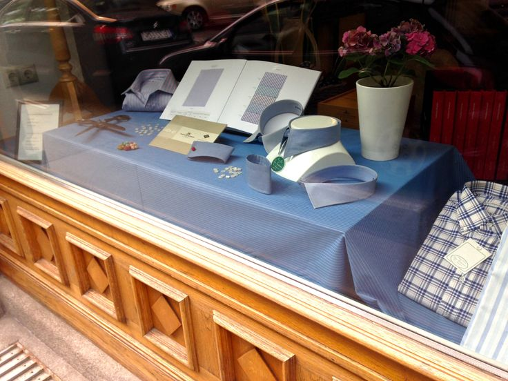 We are pleased to unveil our new shop window.  All about Vienna's favorite bespoke shirt maker Gino Venturini.  If you would like to see what beautiful shirts should look like, come in and we would be pleased to show you.