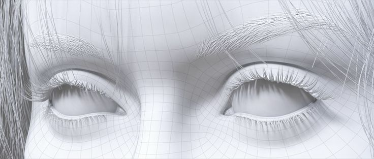Eyes, personal project by Andrei Serghiuta - 3D render using Maya and mental ray. Wiremesh
