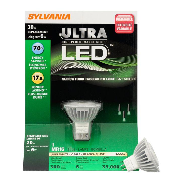 Shop Sylvania 6 Watt 20w Mr16 Plug In Base Soft White