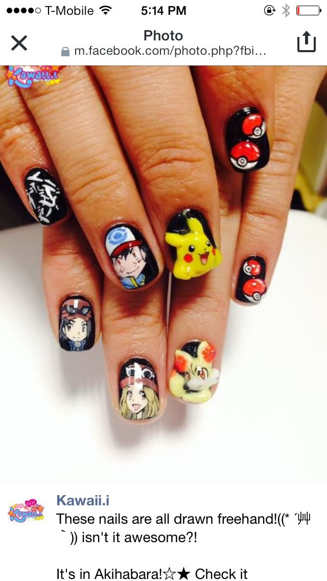 35 best pokemon nail art design tutorial videos by nded images pokemon x and y nail art prinsesfo Choice Image