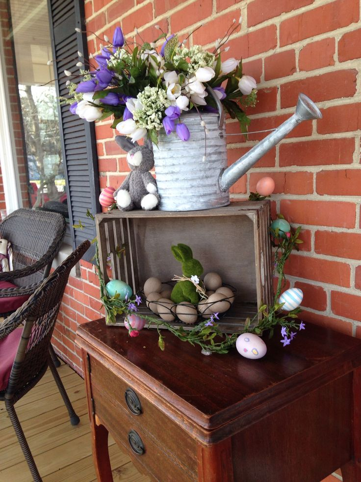 25 best ideas about outdoor easter decorations on for Arboles florales para jardin