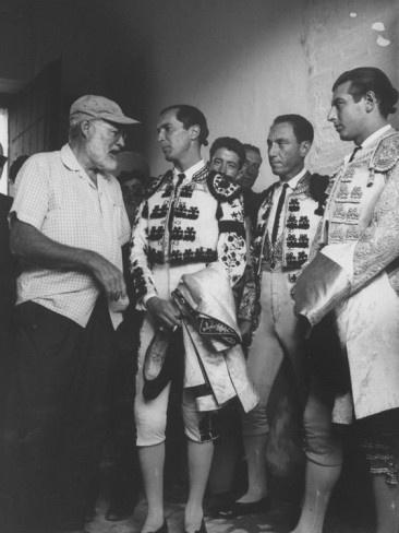 Luis Miguel Dominguin with Ernest Hemingway