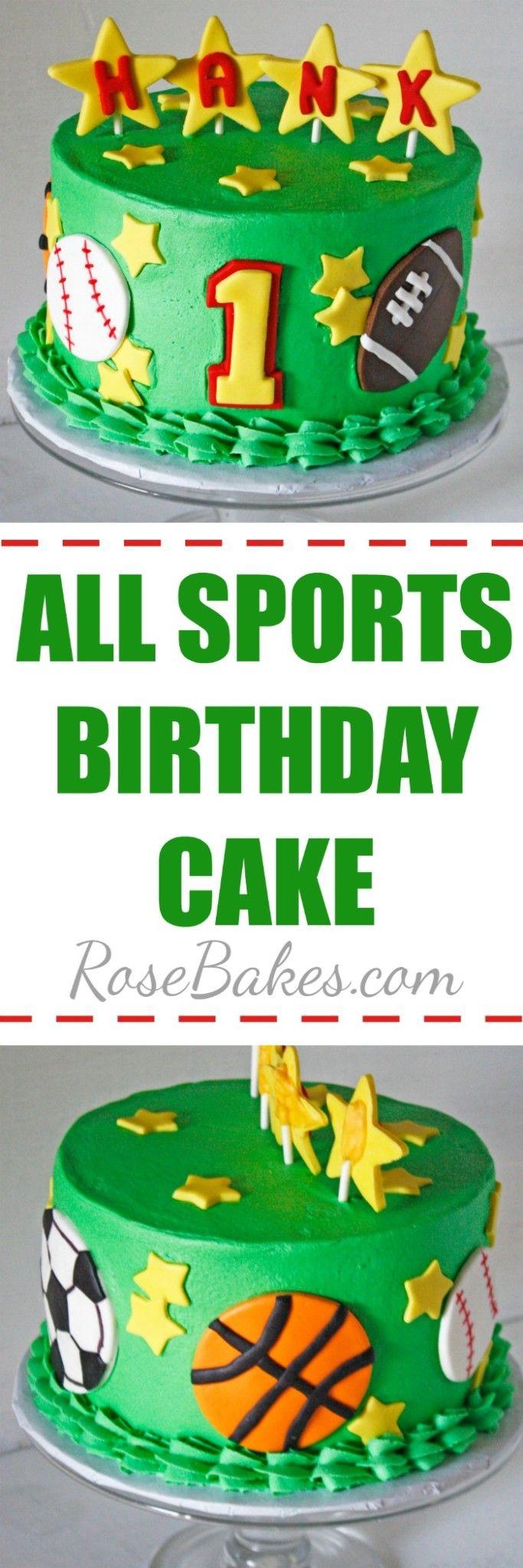 All Sports Birthday Cake by RoseBakes