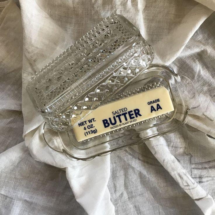 Farmhouse butter dish