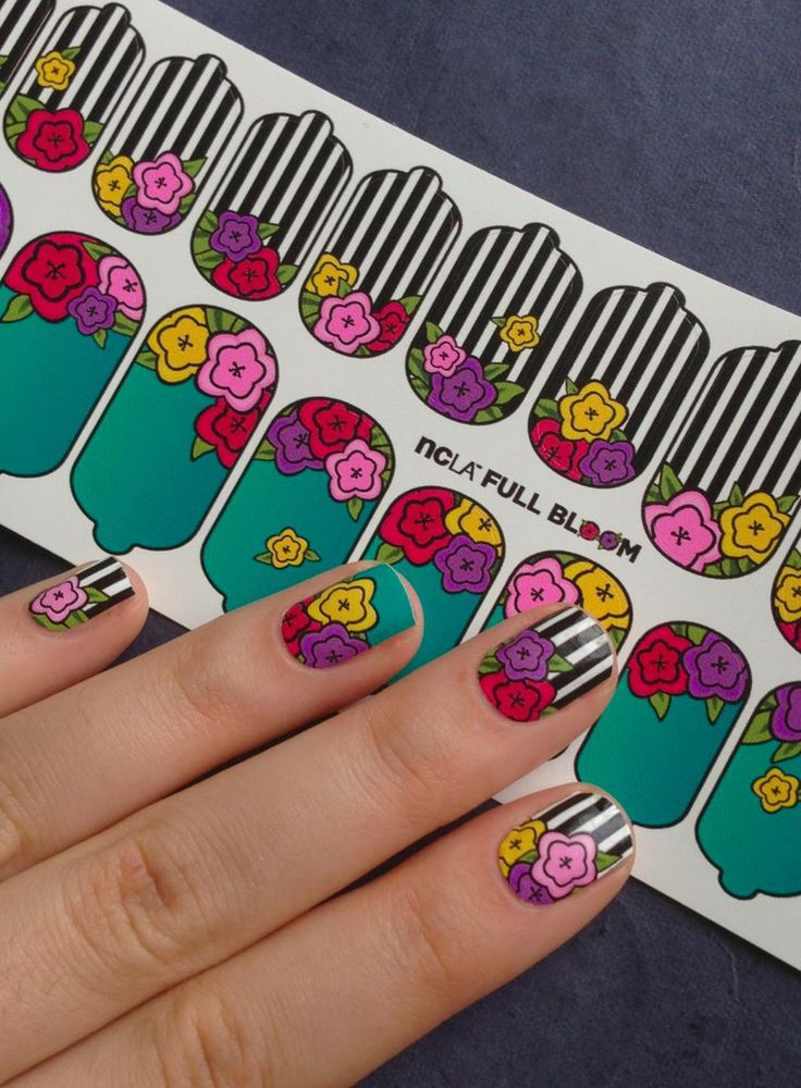NCLA nail wraps in Full Bloom #Nails #Manicure #Nailart