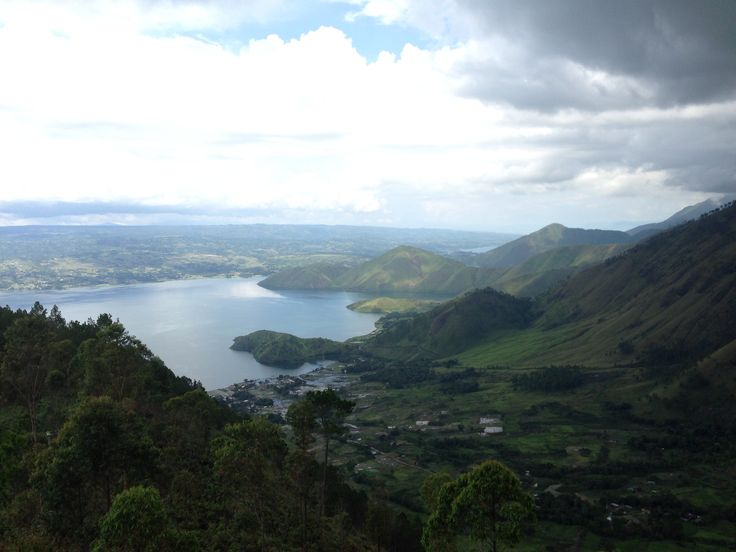 Toba lake, north sumatra.  From 'Tele' , highest point across Samosir Island... the island in the middle of Toba Lake